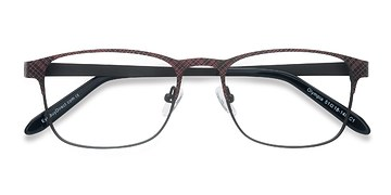 Red Gray Olympia -  Metal Eyeglasses