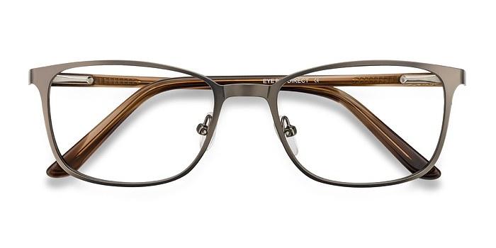 Gunmetal Lines -  Classic Metal Eyeglasses