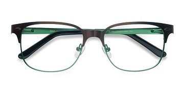 Brown Green Baker Street -  Classic Metal Eyeglasses