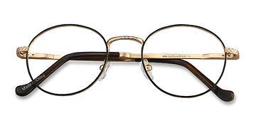 Black Golden Mingus -  Metal Eyeglasses