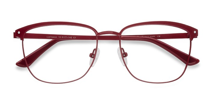 Red Lightbeam -  Metal Eyeglasses