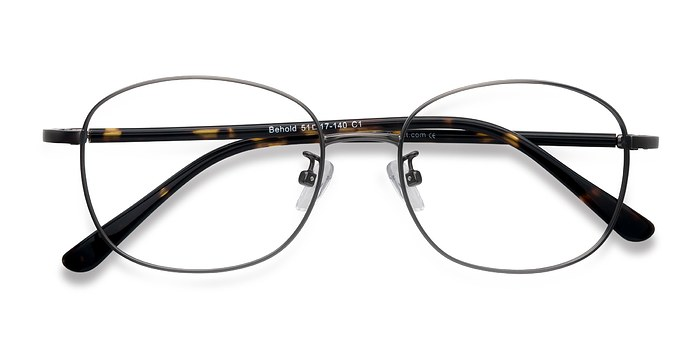 Gunmetal Behold -  Metal Eyeglasses