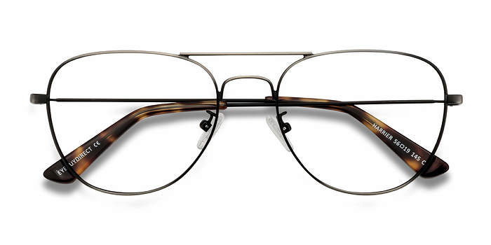 Dark Gunmetal Harrier -  Metal Eyeglasses