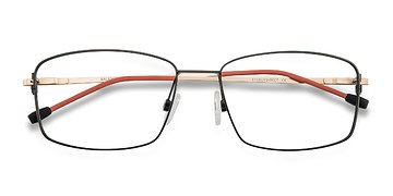 Black Golden Balance -  Metal Eyeglasses