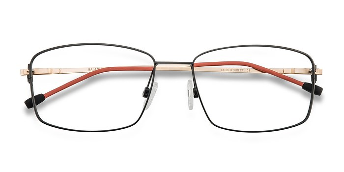 Black Golden Balance -  Metal Eyeglasses