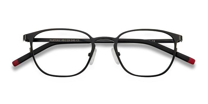 Black Plateau -  Metal Eyeglasses