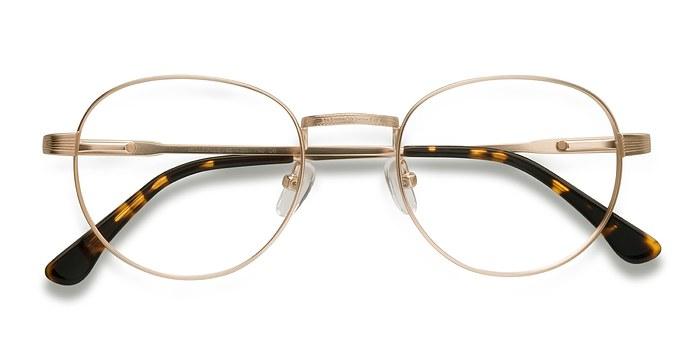 Belleville | Golden Metal Eyeglasses | EyeBuyDirect