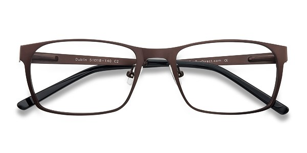 dublin brown metal eyeglasses eyebuydirect