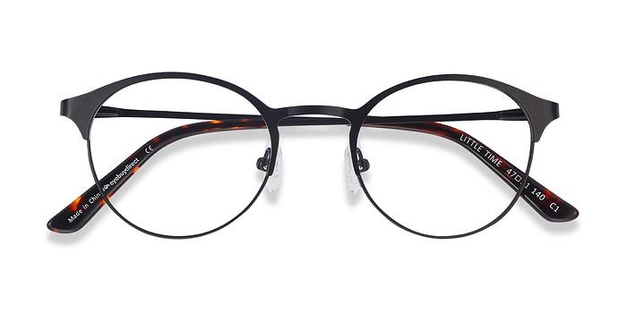 Black Little Time -  Classic Metal Eyeglasses