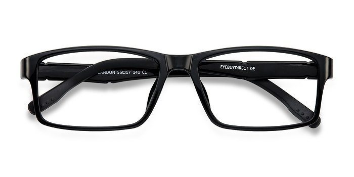Black Bandon -  Lightweight Plastic Eyeglasses