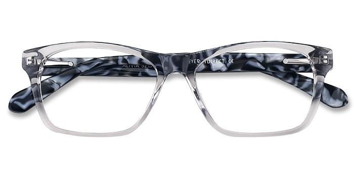 Gray/Clear Alivia -  Fashion Acetate Eyeglasses