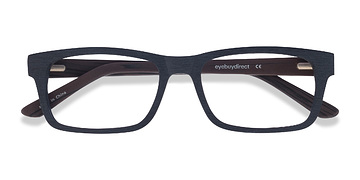 Black Emory -  Geek Wood Texture Eyeglasses