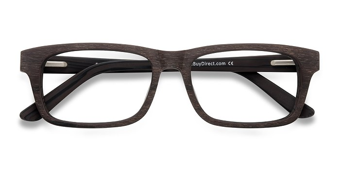 Coffee Emory -  Classic Wood Texture Eyeglasses