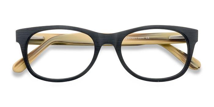 Black Panama -  Geek Wood Texture Eyeglasses