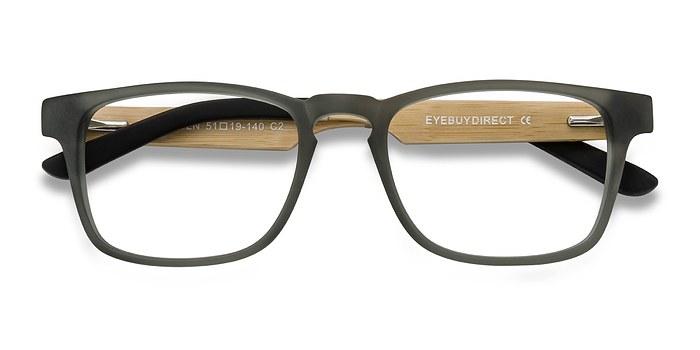 Gray Lincoln -  Designer Wood Texture Eyeglasses