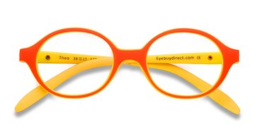 Orange/Yellow Theo -  Colorful Plastic Eyeglasses