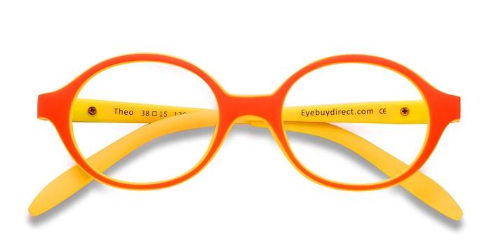 Orange/Jaune Theo -  Coloré Plastique Lunettes de Vue
