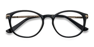Black New Bedford -  Fashion Acetate Eyeglasses