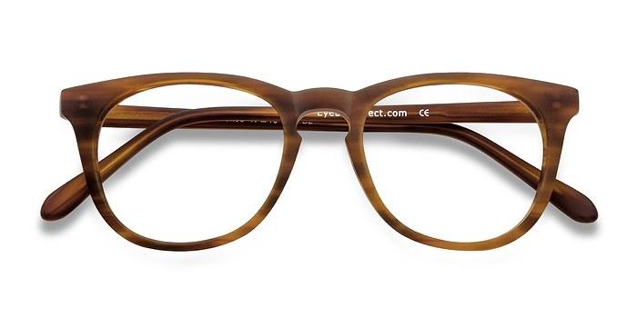 Brown/Striped Providence -  Fashion Acetate Eyeglasses