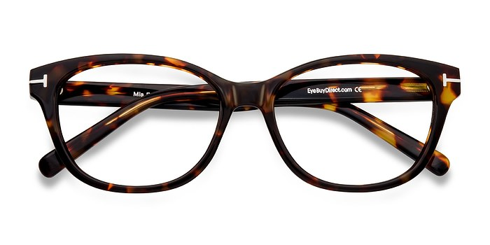 Brown/Tortoise Mia Farrow -  Classic Acetate Eyeglasses