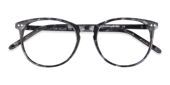 Gray/Floral Fiction -  Classic Acetate Eyeglasses