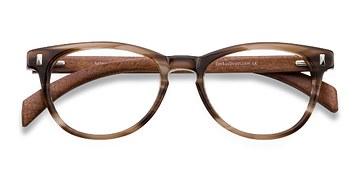 Brown Sahara -  Fashion Wood Texture Eyeglasses