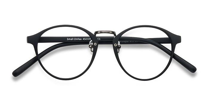 Matte Black/Gunmetal Small Chillax -  Fashion Plastic Eyeglasses
