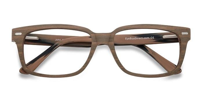 Brown/Striped John -  Classic Acetate Eyeglasses