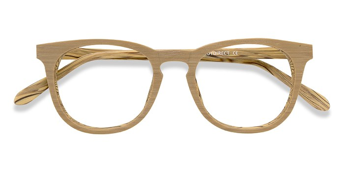 Yellow Providence -  Fashion Wood Texture Eyeglasses