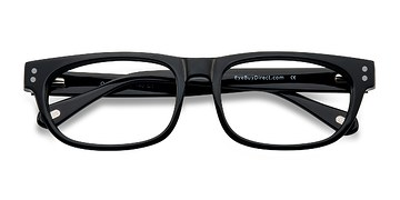 Shiny Black Oslo -  Fashion Acetate Eyeglasses