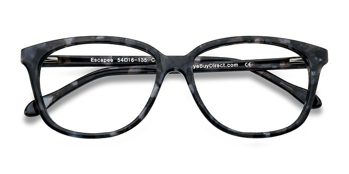 Gray/Floral Escapee -  Classic Acetate Eyeglasses