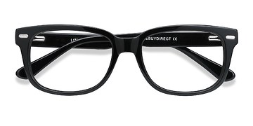 Black Little John -  Fashion Acetate Eyeglasses