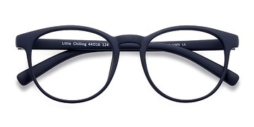 Matte Navy Little Chilling -  Classic Plastic Eyeglasses