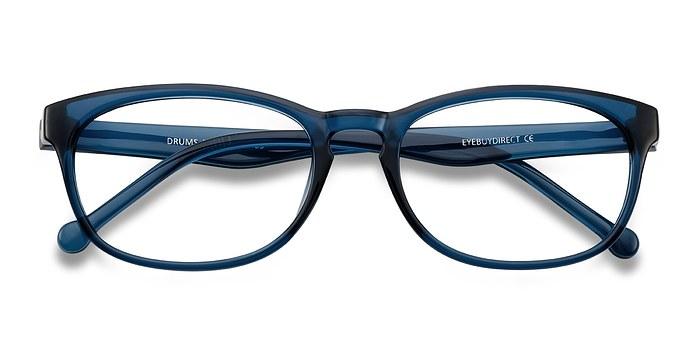 Clear/Blue Drums -  Plastic Eyeglasses