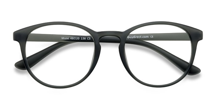 Matte Gray Muse -  Fashion Plastic Eyeglasses