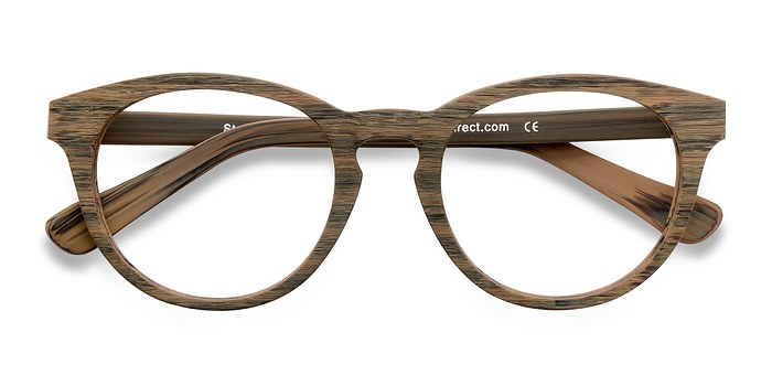 Brown/Striped Stanford -  Fashion Acetate Eyeglasses