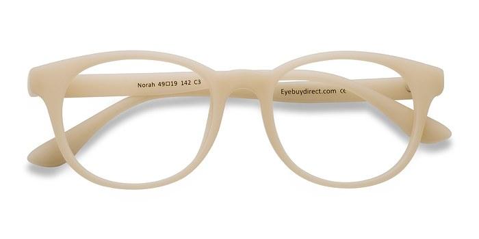 Matte Beige Norah -  Classic Plastic Eyeglasses
