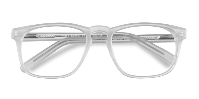 Matte Clear Rhode Island -  Colorful Acetate Eyeglasses