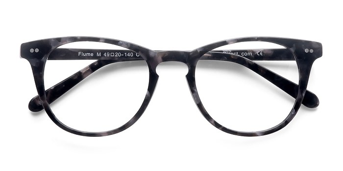 Gray Floral Flume -  Fashion Acetate Eyeglasses