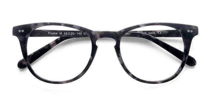 Gray Floral Flume -  Fashion Acetate Eyeglasses