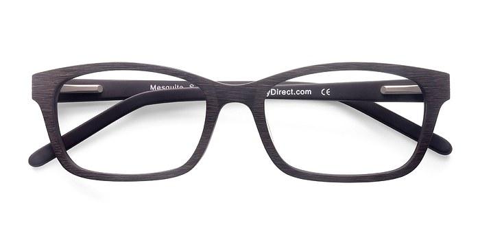 Coffee Mesquite -  Classic Wood Texture Eyeglasses