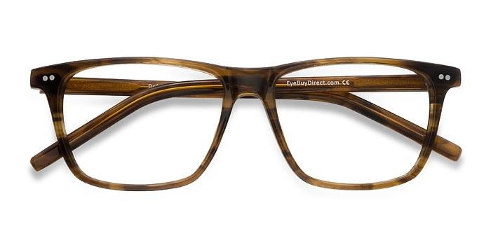Brown Striped Default -  Acétate Lunettes de Vue