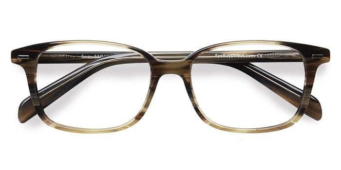 Brown Striped Sway -  Acetate Eyeglasses