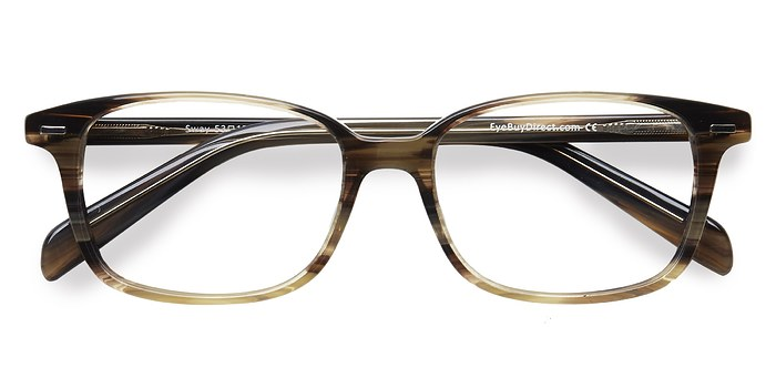 Brown Striped Sway -  Acetate Eyeglasses