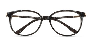 Gray Floral Jasmine -  Colorful Acetate Eyeglasses