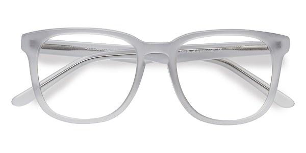 sail white clear acetate eyeglasses eyebuydirect - White Frame Glasses