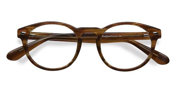 The Loop Brown Striped Acetate Eyeglasses EyeBuyDirect