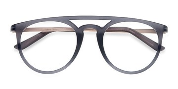 Matte Gray  Fiasco -  Metal Eyeglasses