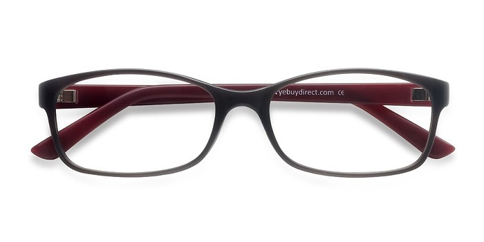 Matte Gray Beads -  Plastic Eyeglasses
