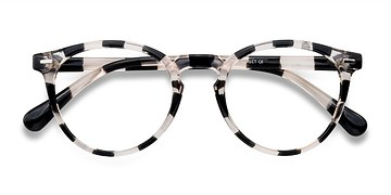 Gray Floral Peninsula -  Plastic Eyeglasses
